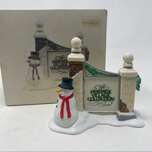 Department 56 Village Sign with Snowman